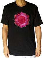 Flower of Life shirt deeppurple flower - sacred geometry embroidery no print drunvalo melchizedek handmade - choose any colour and size