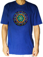 fractal Seed of Life shirt crop circle - sacred geometry flower of life drunvalo melchizedek handmade - choose any colour and size