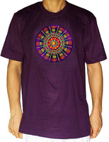 AUM consciousness T-Shirt blacklight handmade embroidery no print OM yantra goa t-shirt