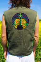 alien alex grey - Design your jacket in any colours - handmade in your size ankh blacklight active 1 zip lock inside pocket