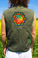 rainbow attributes - Design your jacket in any colours -handmade in your size crop circle blacklight active 1 zip lock inside pocket