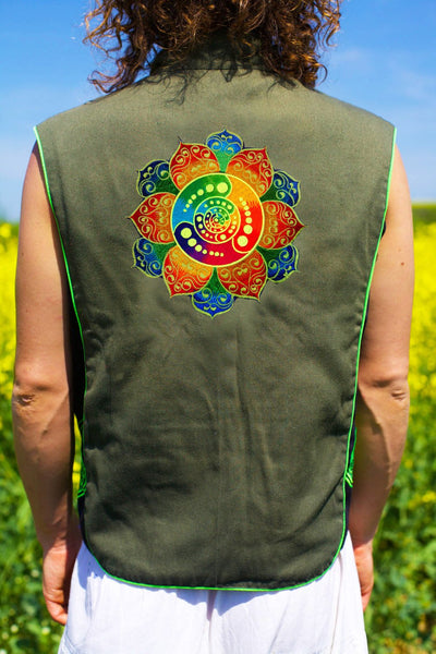 rainbow crop circle attributes - Design your jacket in any colours -handmade in your size blacklight active 1 zip lock inside pocket
