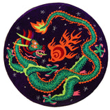 ufo dragon - Design your jacket in any colours -handmade in your size blacklight active 1 zip lock inside pocket