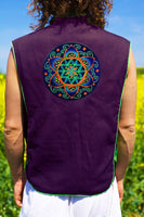 fractal seed of life - Design your jacket in any colours - handmade in your size blacklight active 1 zip lock inside pocket