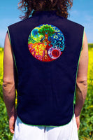 gaia mandala - Design your jacket in any colours - handmade in your size blacklight active 1 zip lock inside pocket