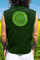 green aum star - Design your jacket in any colours -handmade in your size blacklight active 1 zip lock inside pocket