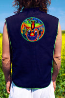 huichol eagle - Design your jacket in any colours -handmade in your size blacklight active 1 zip lock inside pocket