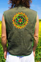 merkabha mandala - Design your jacket in any colours -handmade in your size blacklight active 1 zip lock inside pocket