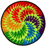 milk hill fractal crop circle mandala - Design your jacket in any colours -handmade in your size blacklight active 1 zip lock inside pocket