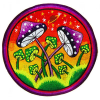 mushroom planets - Design your jacket in any colours -handmade in your size blacklight active 1 zip lock inside pocket