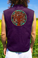 tree of life flower of life- Design your jacket in any colours -handmade in your size blacklight active 1 zip lock inside pocket