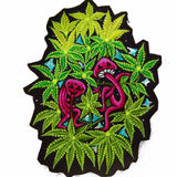 magic mushroom weed party - Design your jacket in any colours -handmade in your size blacklight active 1 zip lock inside pocket