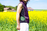 green fractal flower of life - Design your jacket in any colours - handmade in your size blacklight active 1 zip lock inside pocket