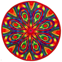 rainbow mandala - Design your jacket in any colours - handmade in your size embroidery no print blacklight active 1 zip lock inside pocket