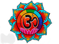 lotus aum mandala - Design your jacket in any colours -handmade in your size blacklight active 1 zip lock inside pocket