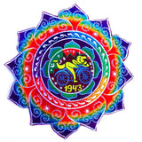 hofmann mandala - Design your jacket in any colours -handmade in your size blacklight active 1 zip lock inside pocket