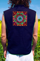 huichol peyote altar - Design your jacket in any colours -handmade in your size blacklight active 1 zip lock inside pocket
