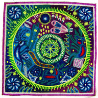 purple huichol art - Design your jacket in any colours -handmade in your size blacklight active 1 zip lock inside pocket