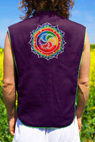 milk hill rainbow fractal crop circle - Design your jacket in any colours -handmade in your size blacklight active 1 zip lock inside pocket