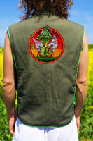 mushroom friend - Design your jacket in any colours -handmade in your size blacklight active 1 zip lock inside pocket