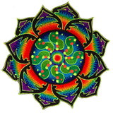 tidcombe rainbow mandala crop circle - Design your jacket in any colours -handmade in your size blacklight active 1 zip lock inside pocket