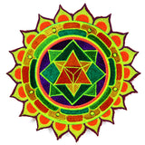 merkabha mandala women top shirt psychedelic holy geometry sacred yantra handmade no print goa t-shirt blacklight active