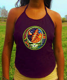 grateful dead women top shirt lsd psychedelic handmade no print goa tank t-shirt blacklight active