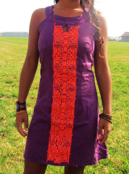ayahuasca dress shipibo dmt vision pattern psychedelic handmade no print goa blacklight active amazonas