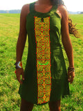 ayahuasca dress shipibo dmt vision pattern psychedelic handmade no print goa blacklight active green amazonas
