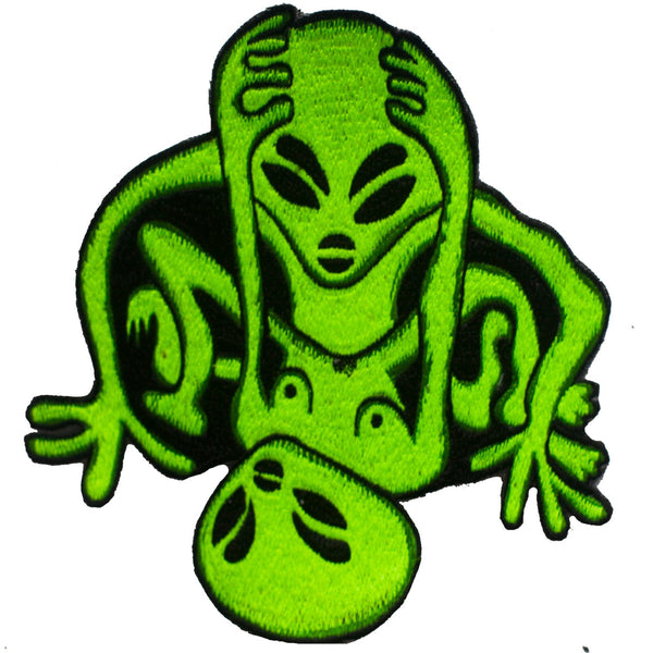 alien love patch - 3.2 inches - blacklight active