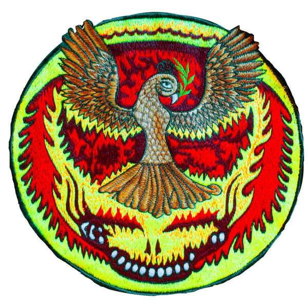 Grateful Dead Eagle Patch psychedelic  deadhead embroidery UV blacklight active