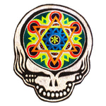 Psychedelic Grateful Dead Patch  deadhead embroidery UV blacklight active