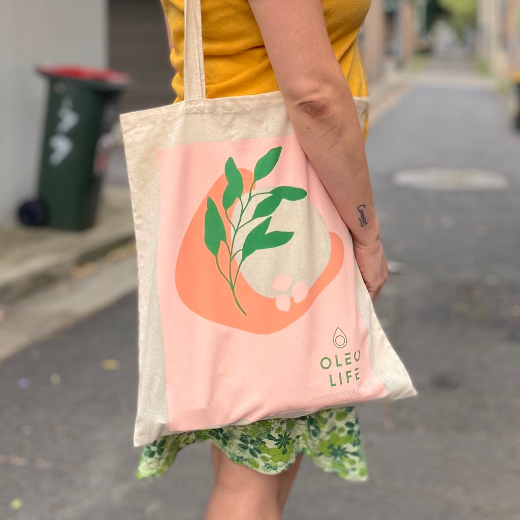 Natural Calico Tote Bag