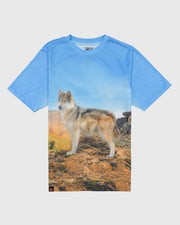 Sublimated Animal T-Shirt - Timber Wolf