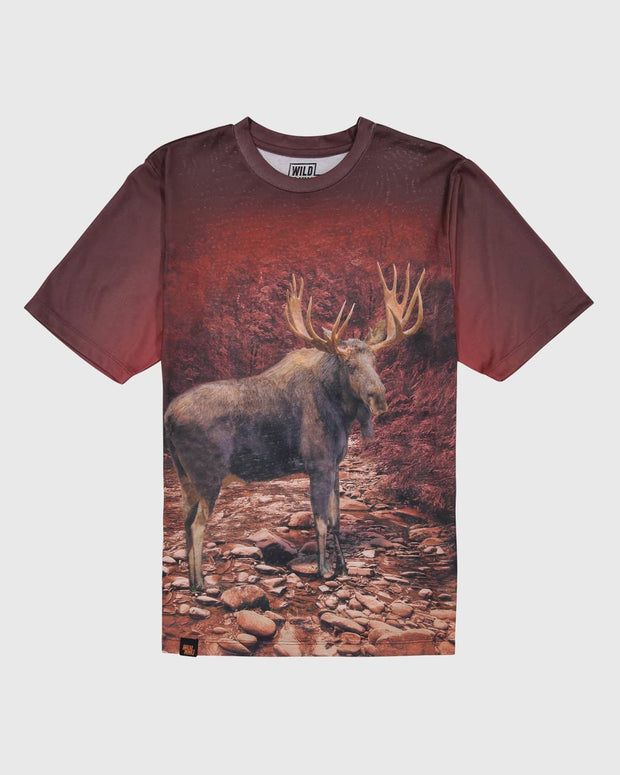 Sublimated Animal T-Shirt - Bull Moose - Wildkind