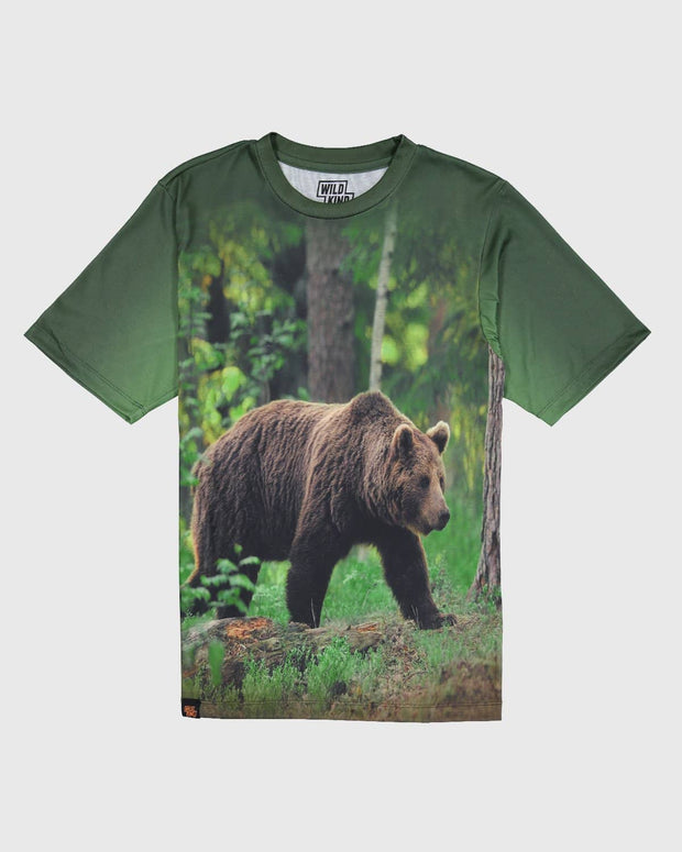 Sublimated Animal T-Shirt - Black Bear