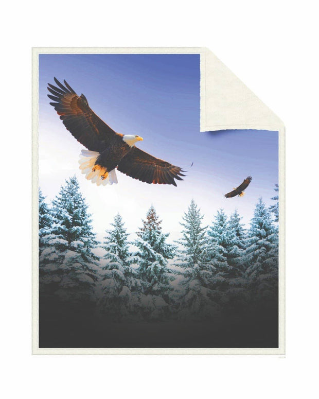 Reversible Snug Animal Blanket - American Eagle - Wildkind