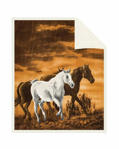 Reversible Snug Animal Blanket - Wild Horses - Wildkind