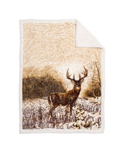 Reversible Snug Animal Blanket - Whitetail Deer
