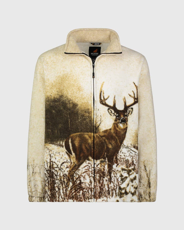 Full-Zip Fleece Animal Sweatshirt - Whitetail Deer - Wildkind