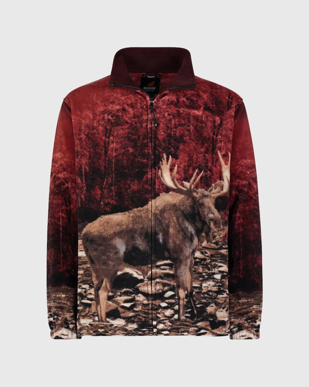 Full-Zip Fleece Animal Sweatshirt - Bull Moose
