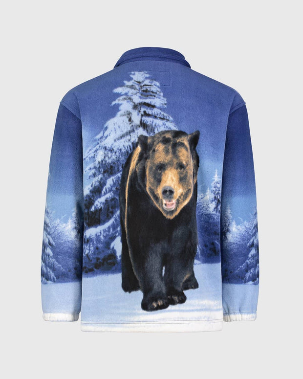 Full-Zip Fleece Animal Sweatshirt - Grizzly Bear - Wildkind