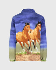 Kids Fleece Animal Sweatshirt - Sunset Horses