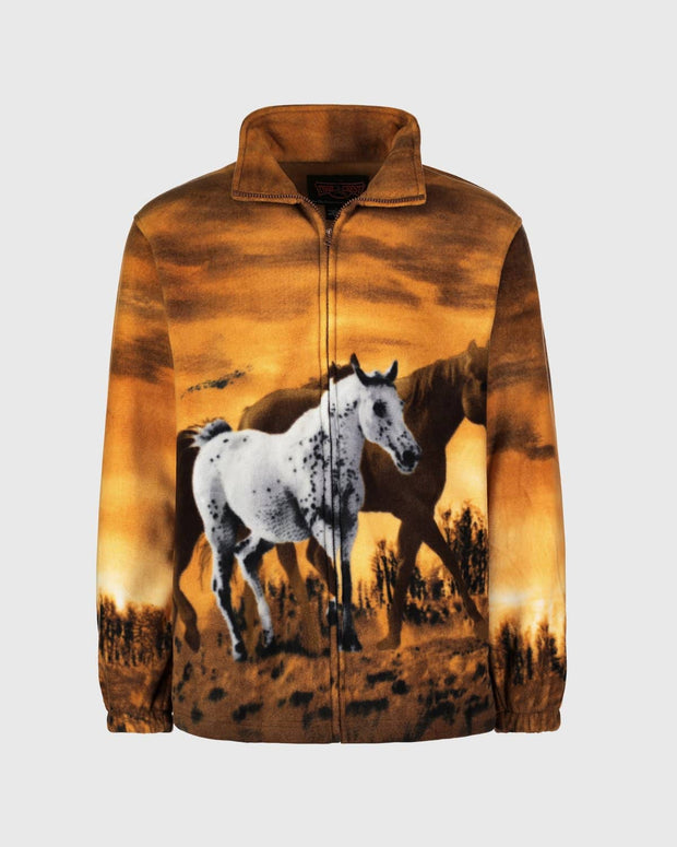 Kids Fleece Animal Sweatshirt - Wild Horses