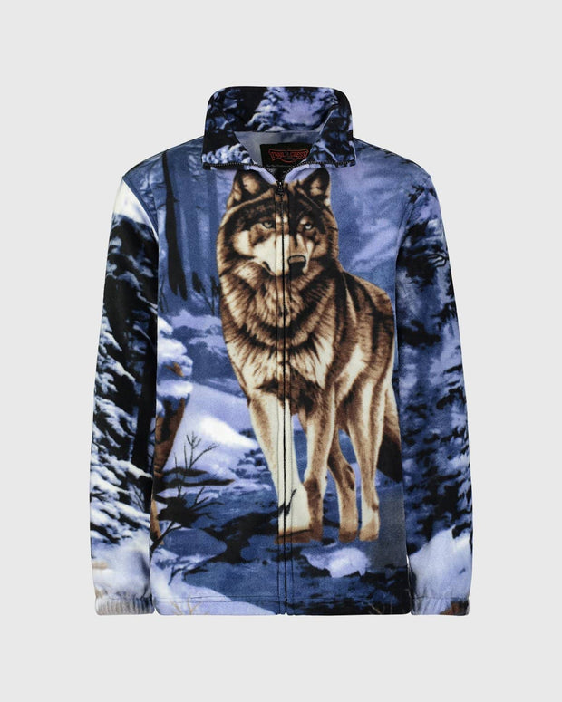 Kids Fleece Animal Sweatshirt - Blue Wolf