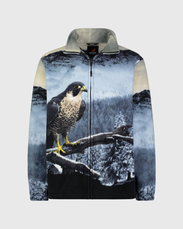 Full-Zip Fleece Animal Sweatshirt - Mystic Falcon - Wildkind