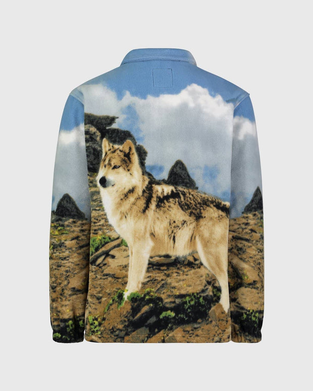 Full-Zip Fleece Animal Sweatshirt - Timber Wolf