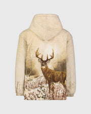 Plush Sherpa Full-Zip Animal Hoodie - Whitetail Deer
