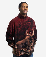 Full-Zip Fleece Animal Sweatshirt - Bull Moose - Wildkind