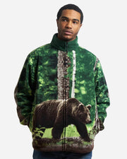 Full-Zip Fleece Animal Sweatshirt - Black Bear - Wildkind